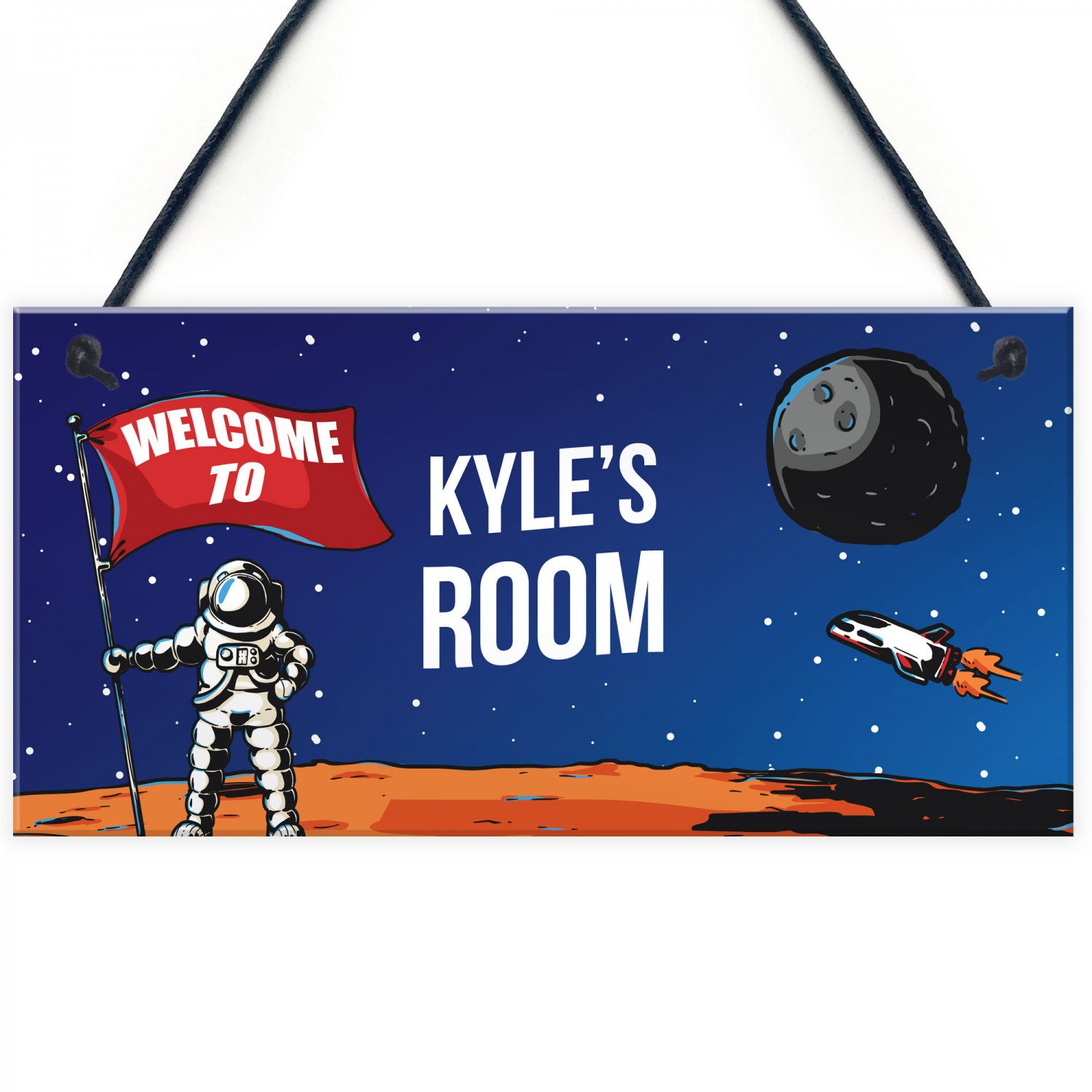 Personalised Space Room Kids Bedroom Signs Child Birthday Gift