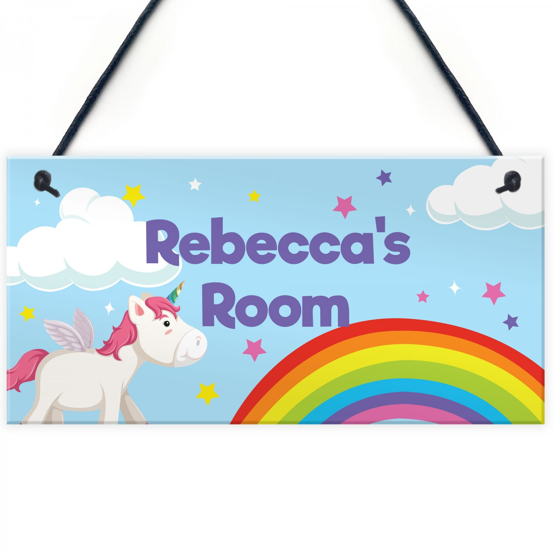 Unicorn Sign Personalised Girls Bedroom Sign Nursery Decor