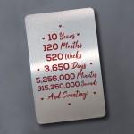 10th Anniversary Gift For Men Women Wallet Insert Gift For Him