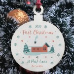 1st Christmas New Home Wood Bauble PERSONALISED Tree Decor