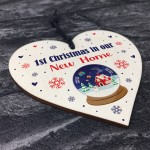 1st First Christmas In New Home Wooden Heart Christmas Gifts