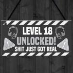 18th Birthday Gift Gamer Level Unlocked Gift For Him Her Men
