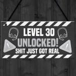 30th Birthday Gift Gamer Level Unlocked Gift For Him Her Men