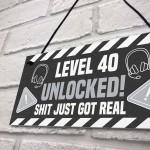 40th Birthday Gift Gamer Level Unlocked Gift For Him Her Men