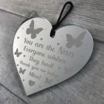 Thank You Gift For Nan Birthday Christmas Engraved Heart