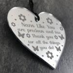 Thank You Gift For Nan Engraved Heart Birthday Christmas Gift