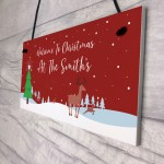Personalised Christmas At The ANY NAME Sign Family Gift
