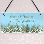 Personalised Christmas Decoration Hanging Home Decor Gift