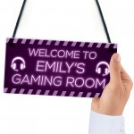 Novelty Gaming Room Sign Funny Gift For Daughter Girlfriend