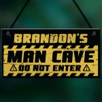 Funny Man Cave Sign Garage Sign PERSONALISED Bar Shed Gift