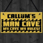 Personalised Man Cave Sign Garage Sign Retro Bar Shed BBQ Gift