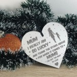 Thank You Gift For Mum Birthday Christmas Engraved Heart Gift