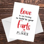 Funny Valentines Day Card Rude Anniversary Card For Boyfriend