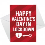 Happy Valentines Day Card For Him Her Funny Lockdown Card