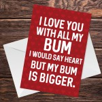Funny Valentines Day Card For Boyfriend Husband Novelty Card