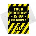 Birthday On Lockdown Funny Birthday Card Quote For Men Women
