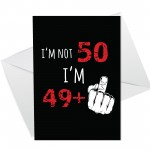 Funny Rude Birthday Card For Women Men Him Her 50th Card