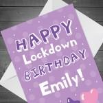 Personalised Happy Lockdown Birthday Card For Her Mum Auntie