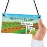 Vegetable Veggie Patch Welcome Garden Signs Allotment Garden