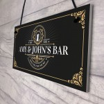 Vintage Home Bar Sign Personalised Garden Bar Man Cave Sign