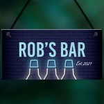 Funny Personalised Bar Man Cave Shed Garage Home Pub Sign
