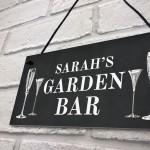 Garden Bar Sign Shabby Personalised Home Bar Garden Sign