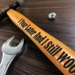 1st Anniversary Gift For Boyfriend Husband Engraved Hammer