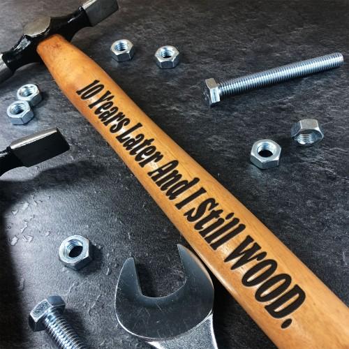 10th Anniversary Gift For Boyfriend Husband Engraved Hammer