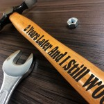 2 Year Anniversary Gift For Boyfriend Husband Engraved Hammer