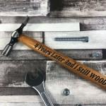 4th Anniversary Gift For Boyfriend Husband Engraved Hammer