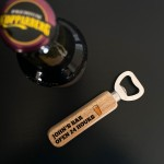 Personalised Bottle Opener For Bar Dad Uncle Brother Gift
