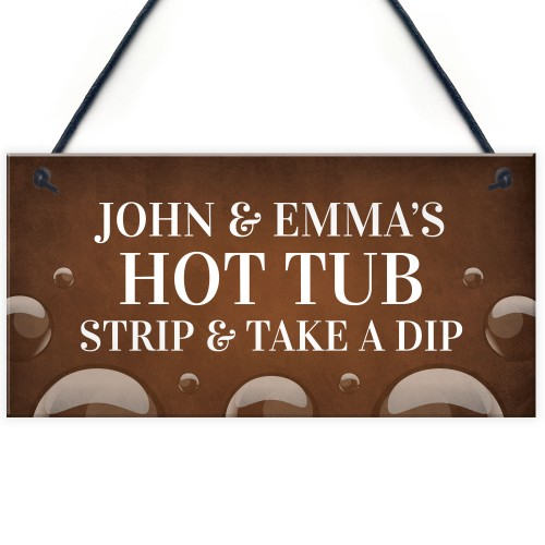 Personalised Hot Tub Novelty Decor Sign For Home Garden Signs