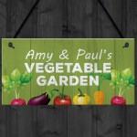 Vegetable Garden Personalised Hanging Allotment Greenhouse Sign