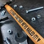 3 Year Anniversary Gift For Boyfriend Husband Engraved Hammer