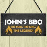 BBQ Signs And Plaques For Outdoor Personalised Garden Sign