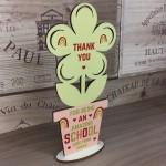 Amazing School Gift Plaque Personalised Flower Teacher Gift