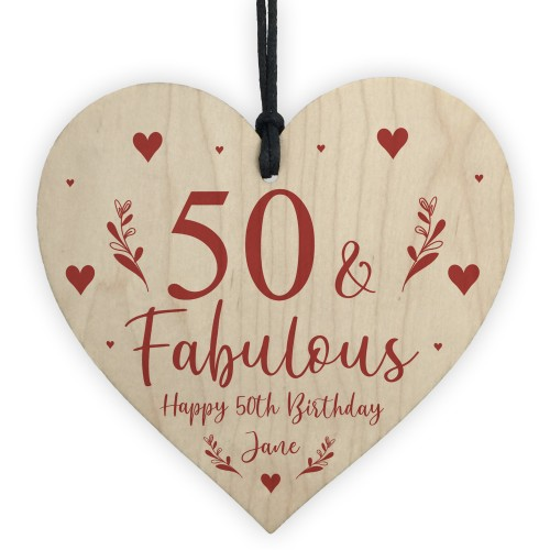 50th Birthday Gift For Mum Sister Auntie Personalised 50
