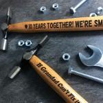 10 Year Anniversary Engraved Hammer Gift For Boyfriend Husband