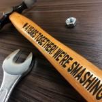 4 Year Anniversary Engraved Hammer Gift For Boyfriend Husband