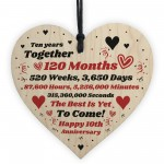 10th Anniversary Gift Husband Wife Wedding TenYears Mr & Mrs