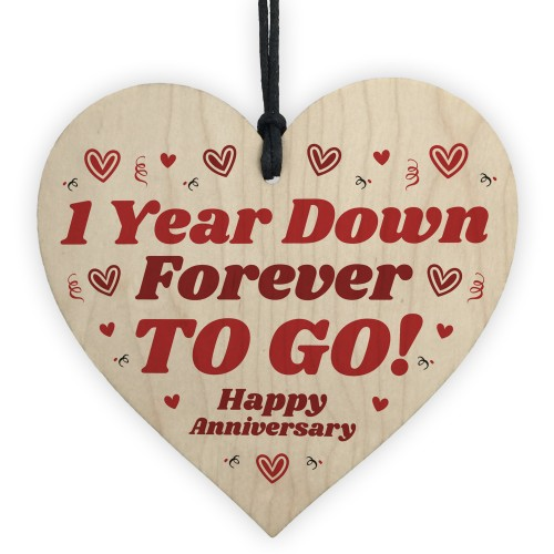 1 Year Down Forever To Go Funny 1st Anniversary Gifts For Him