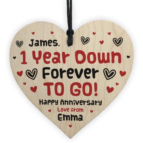 Personalised 1 Year Anniversary Gifts For Boyfriend Girlfriend