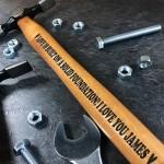 Personalised Engraved Hammer Christmas Gift For Boyfriend