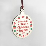 1st First Christmas Together Hanging Bauble Decoration Xmas Gift