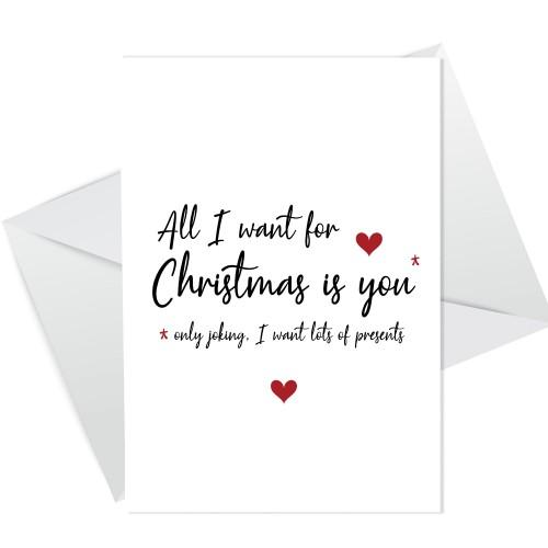 Hilarious Christmas Card For Boyfriend Husband Funny Joke Card