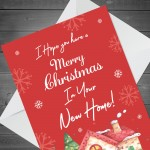 New Home Christmas Card For Friend Couple House Warming Card