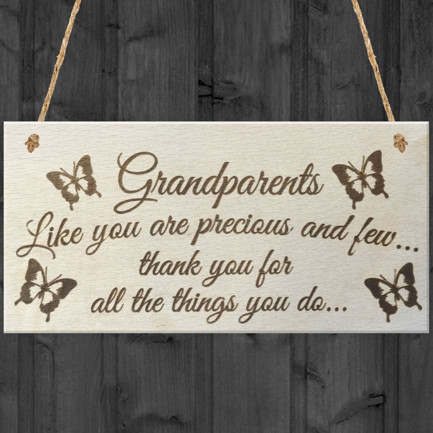 Grandparents Things You Do Wooden Hanging Plaque Sign Love Gift
